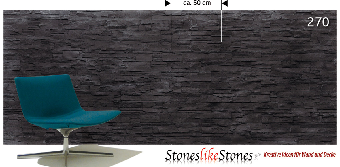 Wandpanel mit Steinoptik