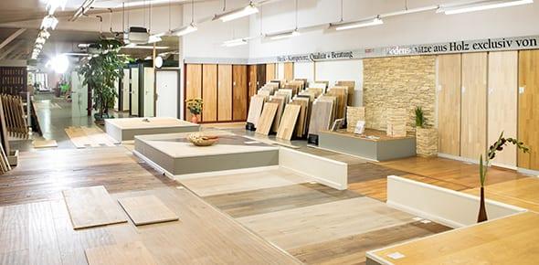 Ausstellungsraum von Holz Heck